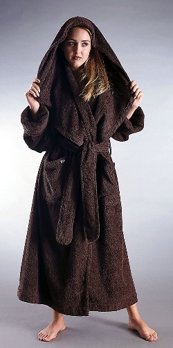 15 oz yd2 100 cotton terry bathrobe style full legnth with large full