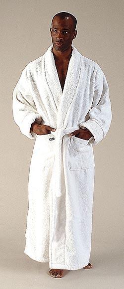 13 oz yd2 100   cotton terry bathrobe  style full length shawl collar